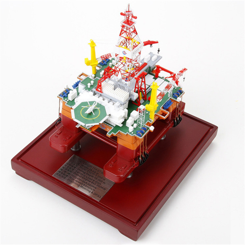 بو 1:7 00 981 المياه العميقة شبه الغاطسة البحرية النفط الحفر منصة هدية جمع نموذج محاكاة نموذج-في التماثيل والمنمنمات من المنزل والحديقة على  مجموعة 1