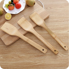 1PC Natural Bamboo Spatula Scraper Utensil Kitchen Cooking Tool Furniture Craft 30CM Long Antibacterial LF 110