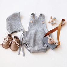 Fashion Baby Boy Romper Summer Toddler Cute Solid Jumpsuits Kids Lovely Clothes Ropa Bebe Unisex New Born