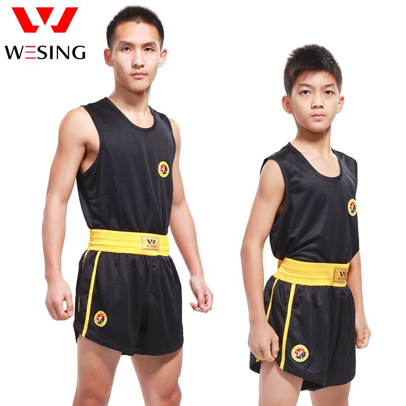 Weisng Men Women Sanda Uniform Children Sauna Suits With Shorts Sanda Outfits Breathable Traning Competition Suit Plus Size 5XL