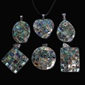 Fashion Style Multiple shapes Natural Mother of Pearl Abalone Shell Pendant for Fashion Pendents Jewelry Making