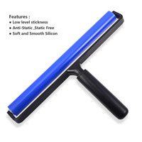 EHDIS 12 Inch Silicone Rubber Roller Squeegee Vinyl Film Car Wrap Water Wiper Scraper Sticker Old Glue Remover Window Tints Tool