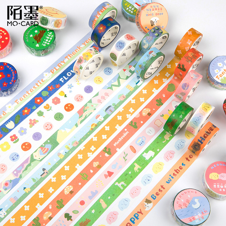 Flower World Bullet Journal Washi Tape Garden Adhesive Tape DIY Scrapbooking Sticker Label Masking Tape Korean Stationery