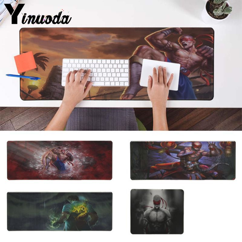Yinuoda New Design League of Legends Lee sin Comfort Mouse Mat Gaming Mousepad Computer gaming Mousepad Best Mats for Gamer Gift image