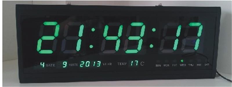 Ht4819sm 6 livraison gratuite en aluminium grand num rique led horloge murale grosse montre for Horloge led murale