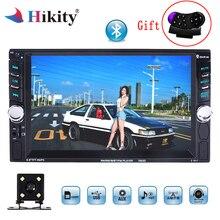 Hikity 2DIN автомобильный Радио 6,6 «HD плеер MP5 Bluetooth Сенсорный экран цифровой дисплей Мультимедийный USB 2din Авторадио автомобильный резервный монитор