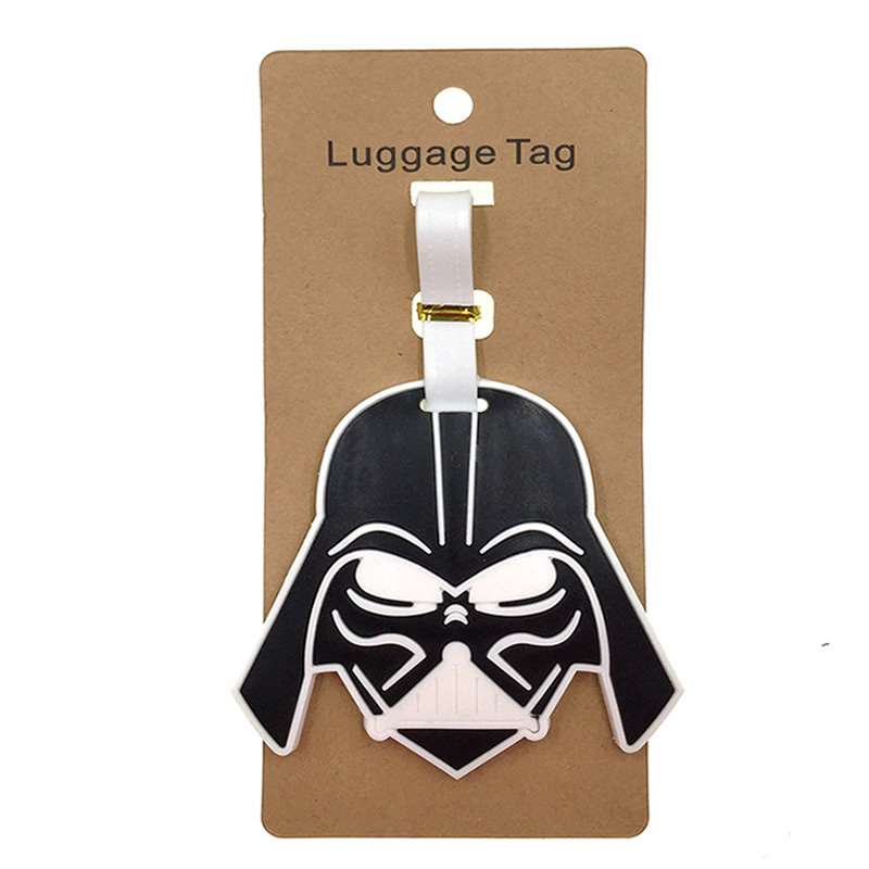 Travel Accessories Cartoon Star Wars Luggage Tag Women Silica Gel Suitcase ID Address Holder Baggage Boarding Tag Portable Label