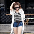 Woman Chiffon Shirt Long Tassel Summer Beach Sunscreen Shirt Pattern Rich Air Conditioning Shirt Lady Casual Chiffon Jacket