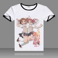 2017 T Shirts To Aru Majutsu No Index Cosplay T Shirt Black O Neck Short Sleeve