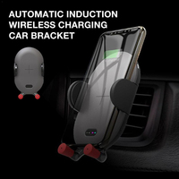 Automatic Induction Infrared Sensor Charger Car Phone Holder Phone Stand Wireless Charging Function Phone Holders & Stands
