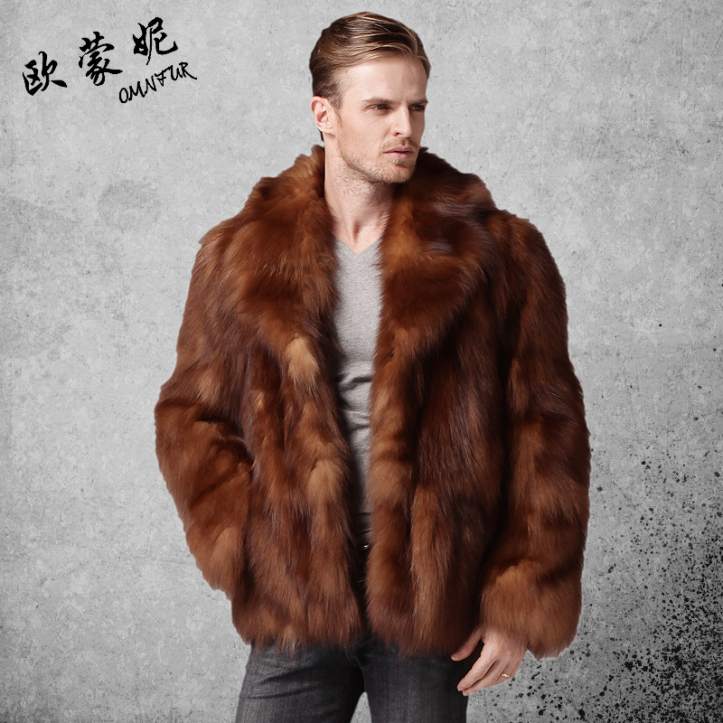 2013 men's clothing crystal fox fur coat fur coat male Men fur ...