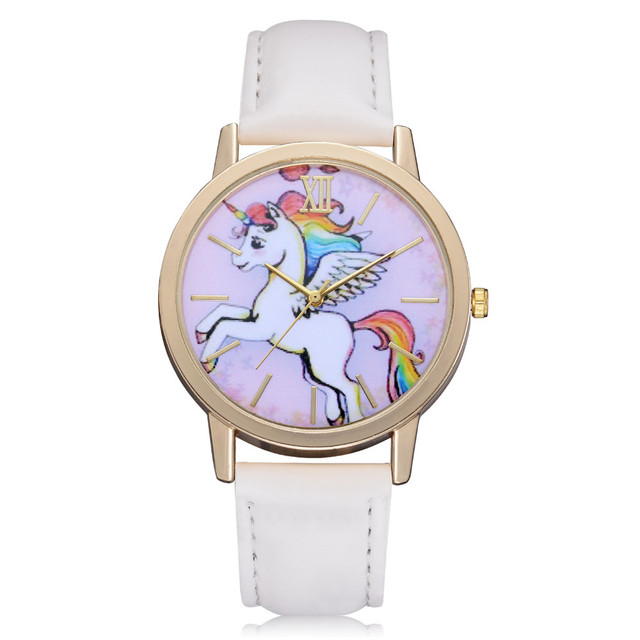 2018 New Fashion Casual Children's Watches Cute Animal Kids Girls Leather Band A