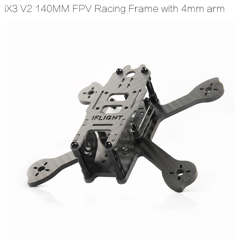 iFlight iX3 V2 145mm FPV Racing Quadcopter Frame compitable with 3030 props REVOBee F4 Flight Controller ...