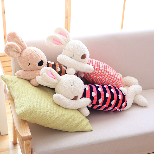 Cute Rabbit Plush Pillows Soft Bunny Stuffed Animals Doll Soft