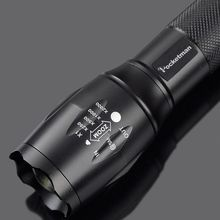 LED Flashlight XM-L2 5000LM Zoomable Flashlight Light Torch Lanterna zaklamp Rechargeable 18650 Charger lampe torche