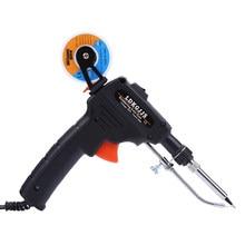110 V/220 V 60W Automático Enviar Tin Gun Hand-held Pistola De Solda Interno Aquecimento Ferro De Solda soldeerbout Com Fio De Solda