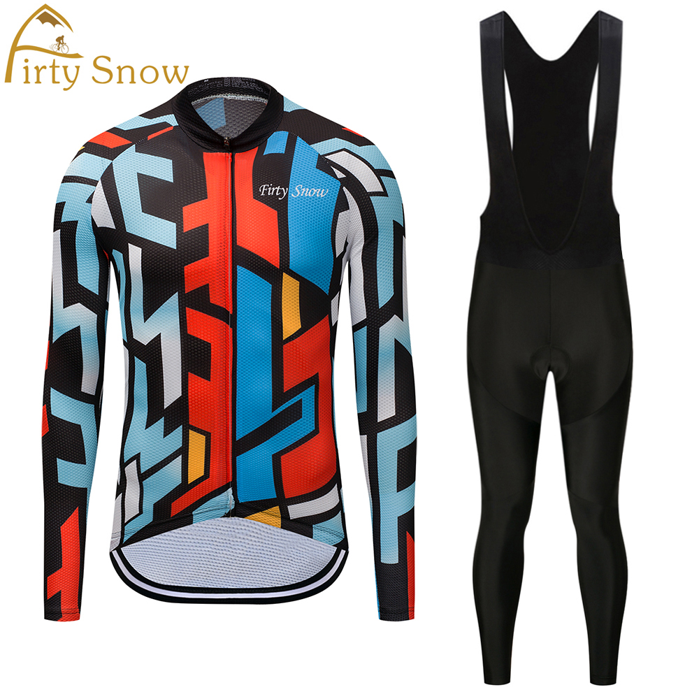 2018 NEW!!! Firty Snow long sleeve autumn cycling wear clothes bicycle bike cycling jerseys pants set ropa ciclismo maillot