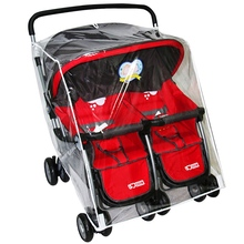 Rain Cover Stroller Protection Waterproof Baby Trolley Twins Stroller Rain Cover Baby Carriage Double Stroller Accessories(China)