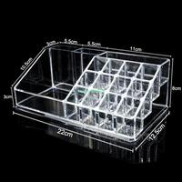 13 Holes Clear Acrylic Cosmetic Jewelry Display Makeup Organiser Box Case Storage Holder EQC370 Acrylic Makeup