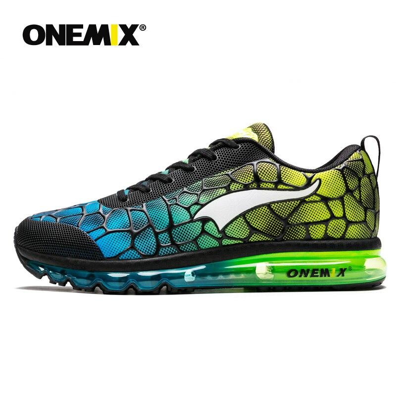 Onemix nouveaux hommes chaussures de course respirant en plein air athlétique marche baskets hommes sport chaussures de course grande taille 35-47 - 3