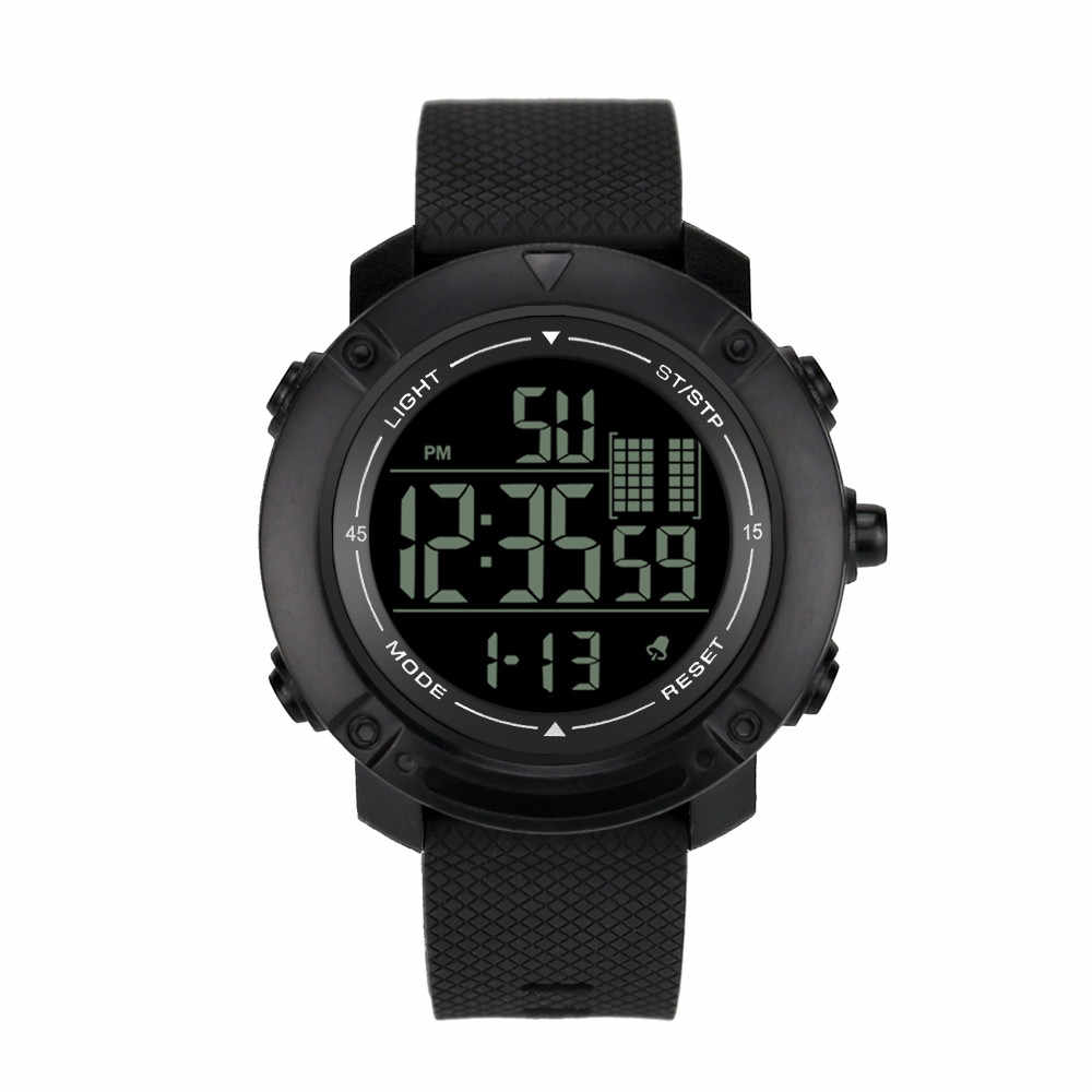 Multi función Luminous Sport Digital impermeable de alta calidad reloj de hombre de moda electrónico Casual reloj de pulsera reloj F4