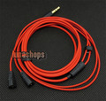 1.2m Custom Handmade Cable For Sennheiser IE8 IE80 earphone headset Red Limited
