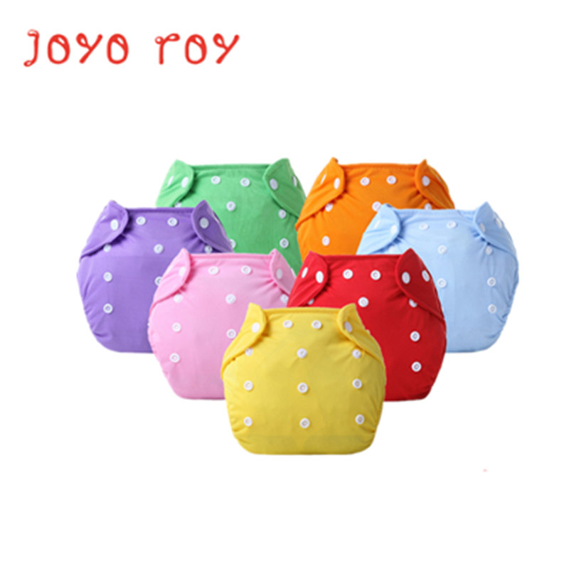 Joyo Roy Solid Newborn Baby Nappy Suits Adjustable Children Solid Pocket Cloth Diaper Pants Cotton Baby Training Pants Dj0021R