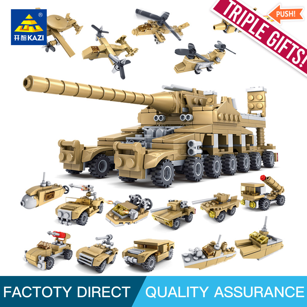 Kazi 84031 Building Blocks Toys Military Weapons 16 in 1 Super Tanks Compatible With Self-Locking Bricks For Kids Birthday 120pcs new building blocks self locking bricks after completion of transformation can change shape compatible legoinglys toys