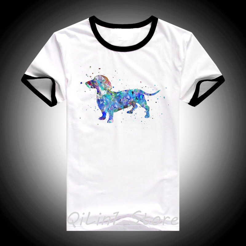 Hipster Keren Dachshund Cat Air T-shirt Femme Musim Panas Fashion Wanita T Shirt Gadis Cantik Atasan Kasual Tshirt Anjing Lucu Seni Desain