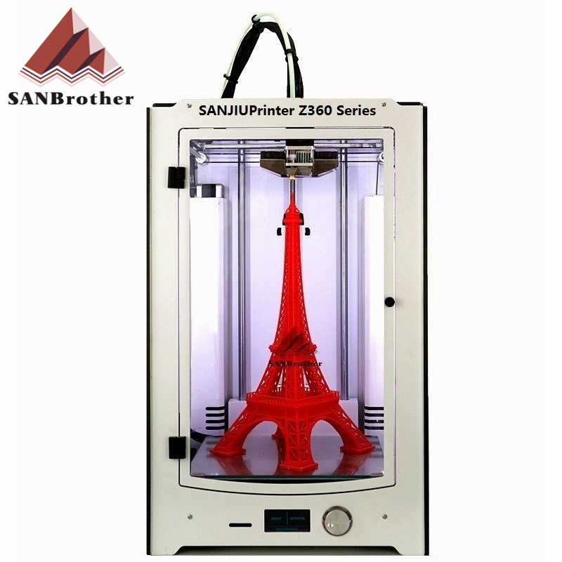SANJIUPrinter3 Z360 3D Printer Newest 2016 DIY KIT For Ultimaker 2 UM2 Extended Auto Leveling 3D Printer Include All Parts. diy ultimaker 2 extended 3d printer diy full kit 1 75mm metal extruder not assemble single nozzle um2 extended 3d printer