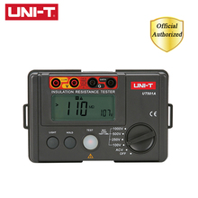 лучшая цена UNI-T UT501A Insulation Earth Ground Resistance Meter 1000V Megger Auto Range Ohm Tester Megohmmeter Voltmeter w/LCD Backlight