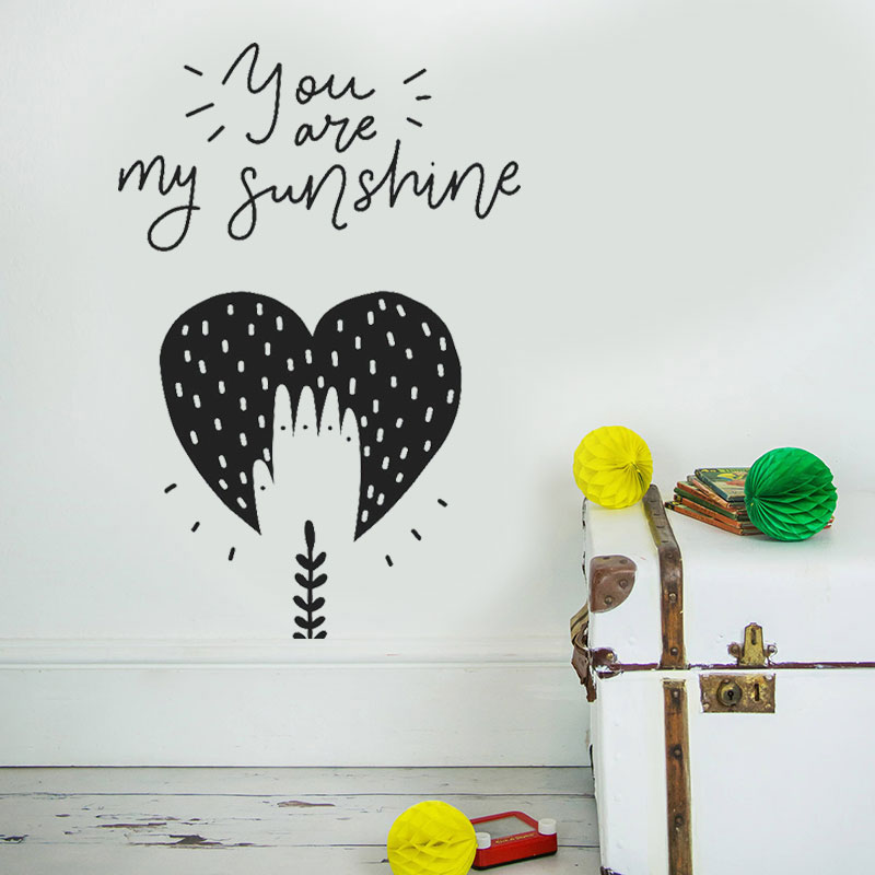 Us 7 38 25 Off Nursery Decor You Are My Sunshine Baby Room Wall Art Deco Boy Vinyl Stickers Diy Bo02 In