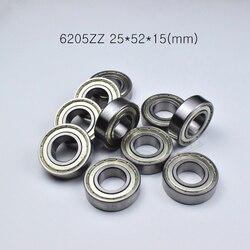 6205zz 25*52*15mm 1 peça rolamentos de vedação de metal frete grátis 6205 6205z 6205zz aço cromado rolamento sulco profundo