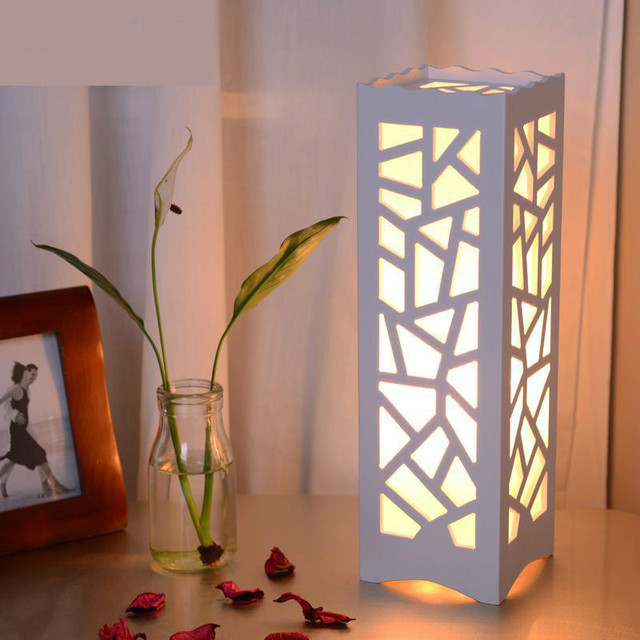E14 minimalist ivory white wood plastic plate led table lamp e14 minimalist ivory white wood plastic plate led table lamp abstract design through cared bedroom table aloadofball Images