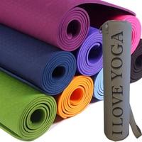 TPE Yoga Mat With Bag Nop Slip Fitness Mats for Exercise 6mm TPE Sport Gymnastics Mats With Yoga Bag 6mm Yoga Mat TPE