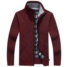 Men's Autumn / Winter Warm Cashmere Wool Zipper Knitted Sweaters