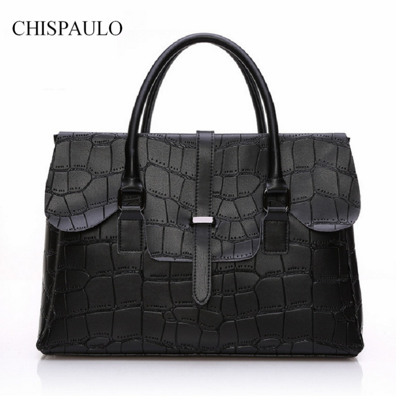 ФОТО Women Bag 2017 Luxury Brand New Fashin Genuine Leather Shoulder Handbag Elegant Famous New Black Messenger Ladies Bolsa Solid