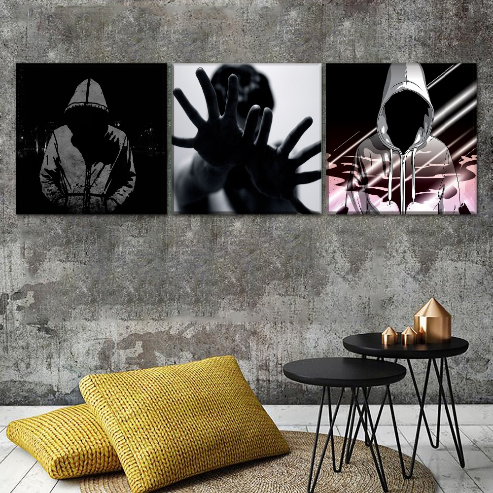 Canvas Paintings Bedroom Wall Art Decor Framework 3 Pieces 1Pcs Abstraction No Face Man Pictures Home Decor HD Prints Posters in Painting Calligraphy from Home Garden