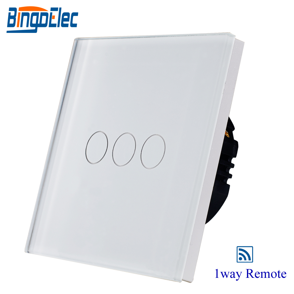 цена 3gang1way white touch switch glass,remote control light switch EU/UK satandard AC110-250V CE