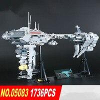 Lepin 05083 Star Series War 1736Pcs MOC The Nebulon Model B Set Medical Frigate Children Building