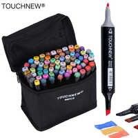 TOUCHNEW 30/40/60/80 Colori Pennarelli Artistici A Base di Alcool Marcatori Disegno A Penna Set Manga Dual Intestata di Arte sketch Marker Penne di Design