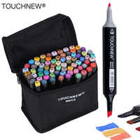 TOUCHNEW 30/40/60/80 Colors Art Markers Alcohol Based Markers Drawing Pen Set Manga Dual Headed Art Sketch Marker Design Pens