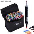 TOUCHNEW 30/40/60/80 colores arte marcadores a base de Alcohol marcadores de dibujo pluma Manga doble a arte dibujo marcador diseño plumas