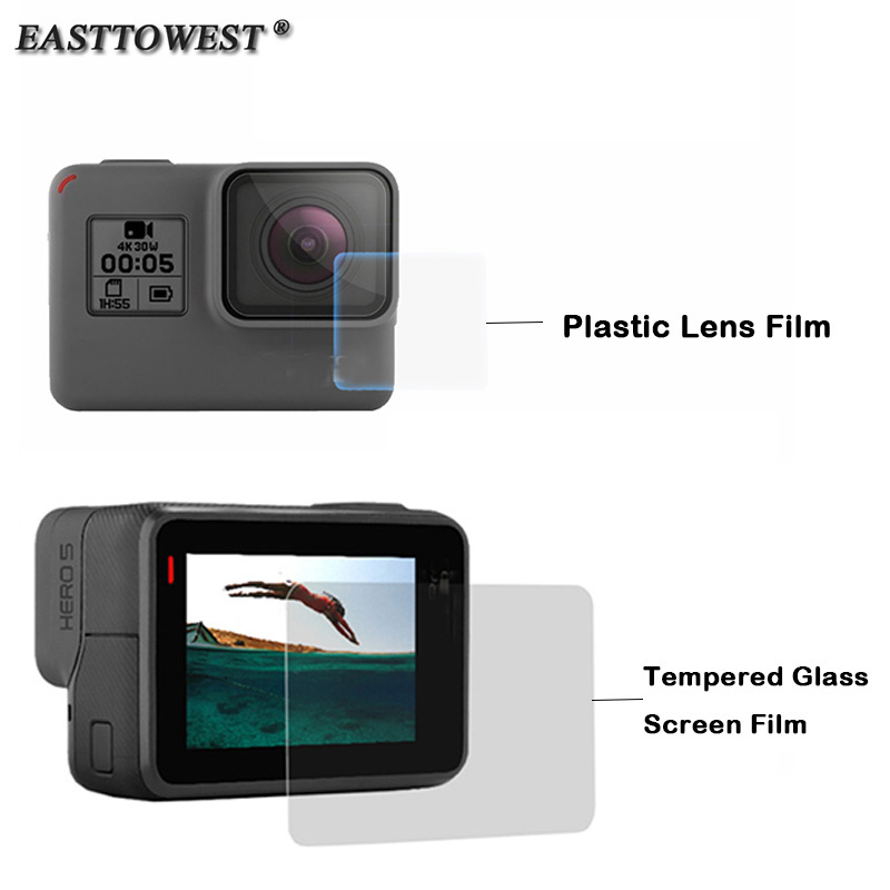 Easttowest For GoPro Hero 5 Accessories Premium Tempered Glass Screen Film LCD Screen Protector For Gopro Hero 5