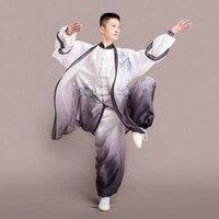 Форма тайцзи Тай Чи костюмы мужской для мужчин Тай Чи форма Кунг фу Боевые искусства свободный крой спортивные наборы для ухода за кожей DD1620