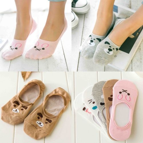High Quality Womens Cute Non-Slip Boat Loafer Cotton Invisible Low Cut No Show Socks 1 Pairs ...