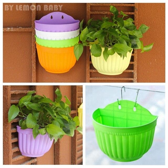 grandes flores cesta colgante de pared macetas y jardineras verde maceta de plstico maceta de jardn