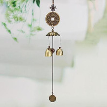 Traditional Chinese 6 Bells Copper Clock Wind Chimes Windbel