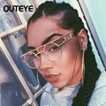 Outeye 2017 marco del metal de steampunk gafas de sol redondas diseñador de la marca mujeres de los hombres retro gótico de la vendimia gafas de sol uv400 gafas
