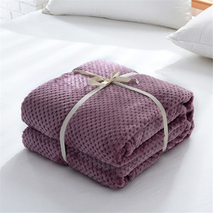 Image 5 - Parkshin Modern Khaki Flannel Pineapple Blanket Aircraft Sofa Office Adult Blanket Car Travel Cover Throw Blanket For Couch